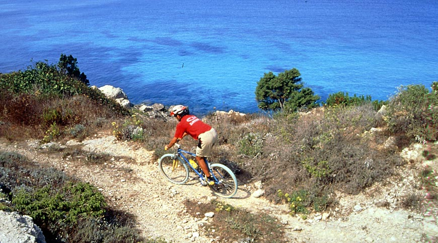 Mountain bike on Elba